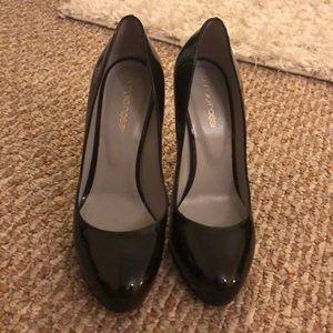 Never worn black patent leather Sergio Rossi heels